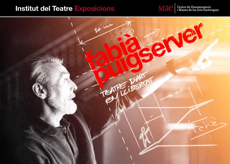 Cartell de l'exposició itinerant Fabià Puigserver. Teatre en llibertat. Mostra fotogràfica