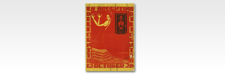 Cartell de La Diligentia amb Antonía Mercé. Nederlandsch Theater, 1928