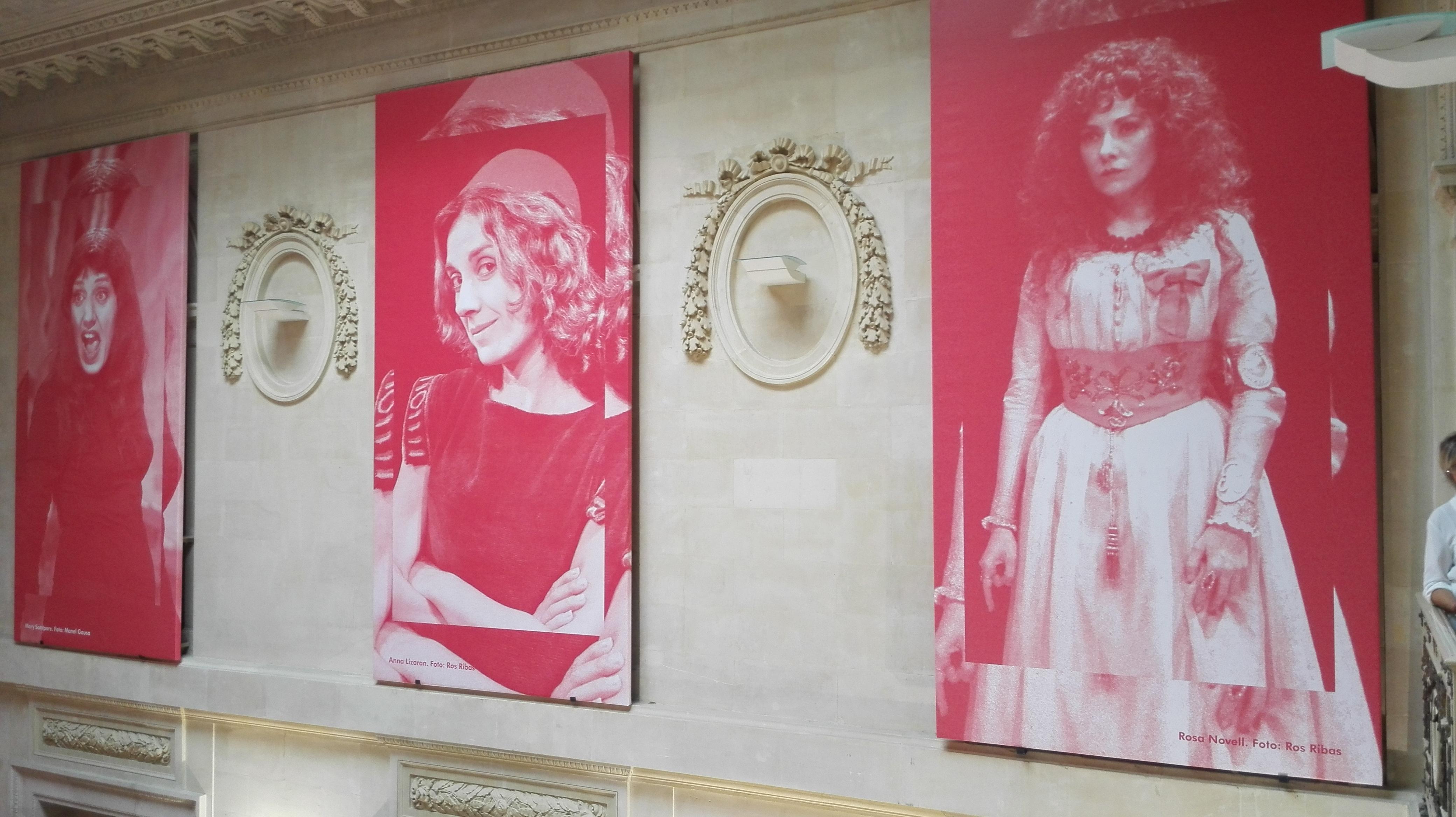 Exposició Actrius catalanes del segle XX, Palau Robert de Barcelona, del 27 d'octubre de 2015 al 27 de març de 2016