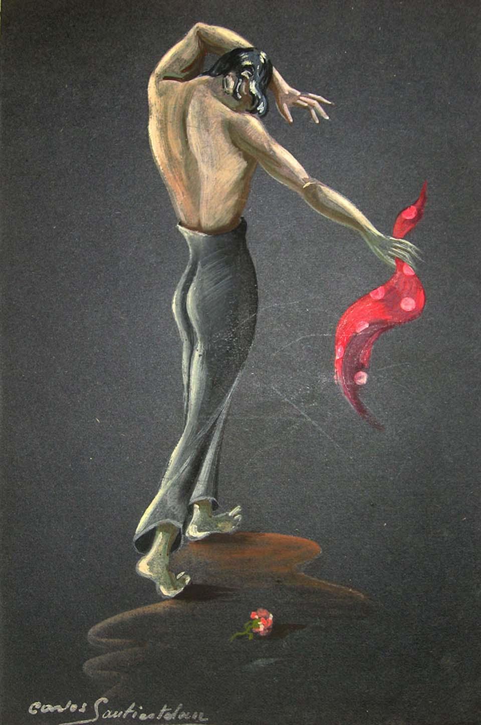 Pintura de Carlos Santiesteban (1927-2015) del Fons Magriñà del MAE