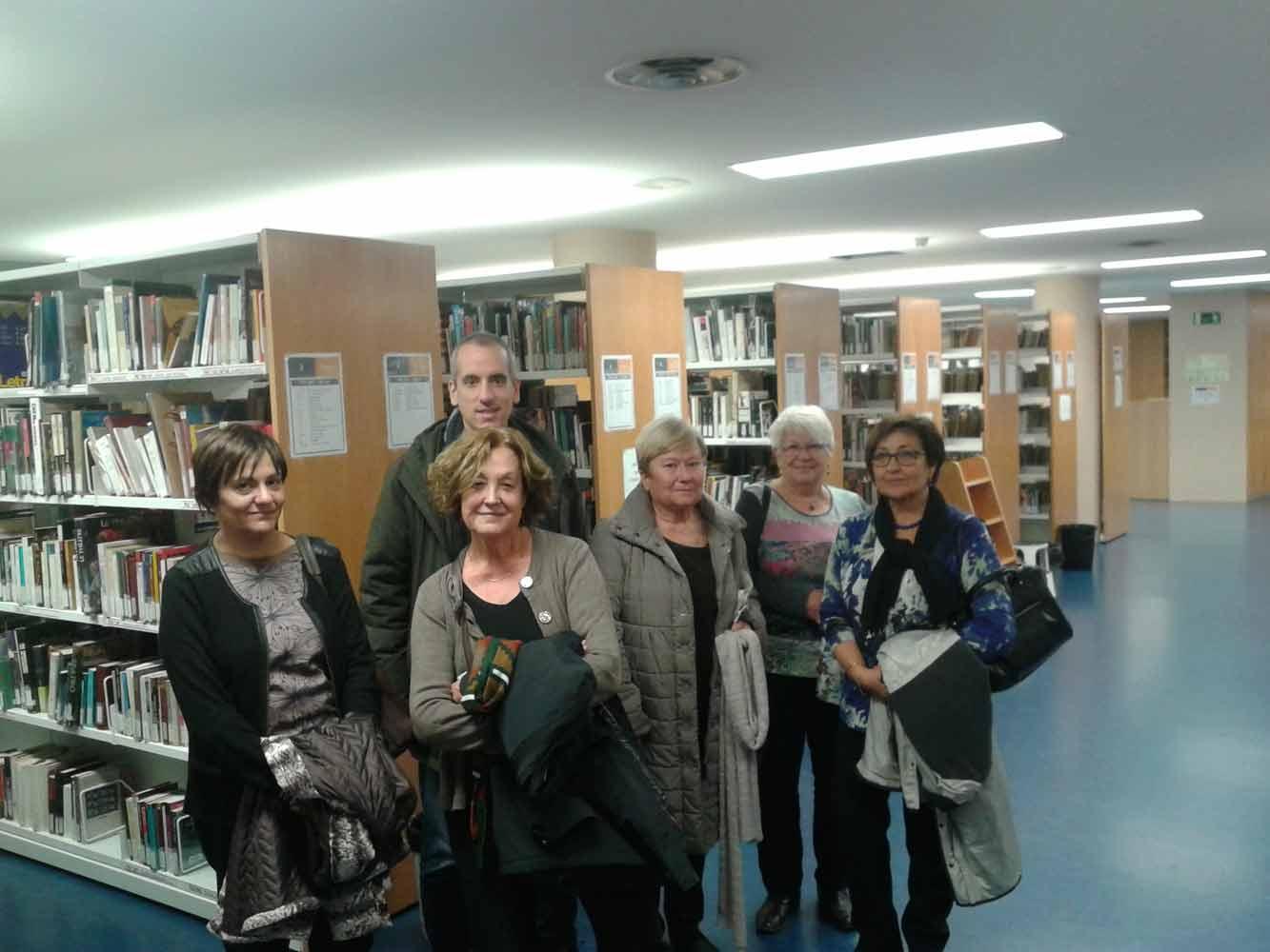 Visita al MAE del personal de la Biblioteca General i de Referència de l'Àrea de Presidència de la Diputació de Barcelona, el 25 novembre 2015