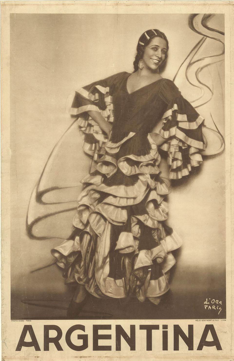 Cartell d'Antonia Mercé , fotografia de Madame d'Ora