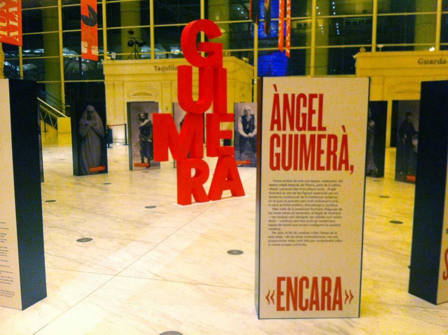 Exposició sobre Àngel Guimerà. Vestíbul principal del Teatre Nacional de Catalunya. Del 18 de gener al 12 de juny de 2016