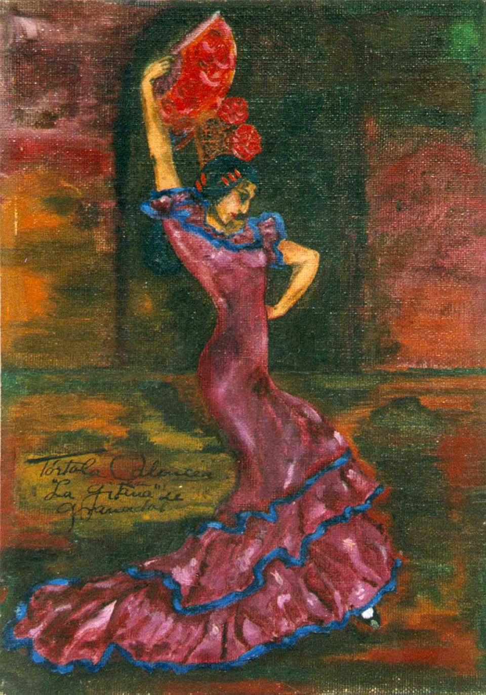 Autorretrat de Tórtola Valencia ballant La gitana de Granados