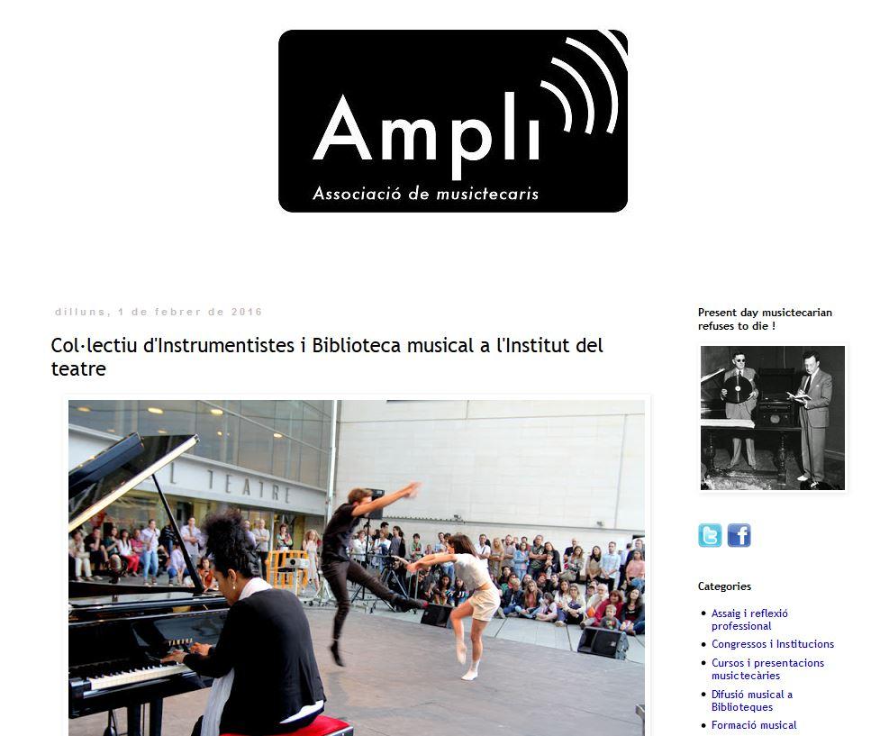 Bloc Ampli, Associació de musictecaris