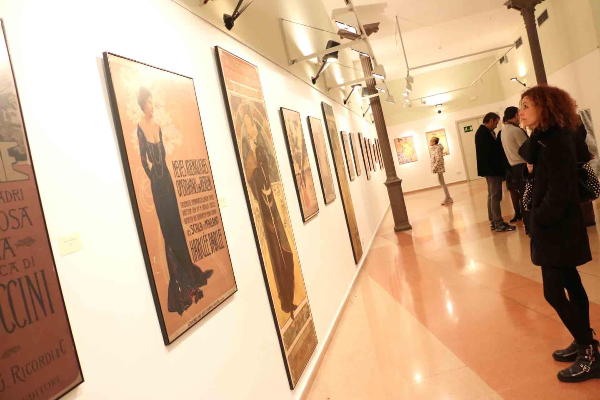 Exposició itinerant del MAE Mostra de cartells modernistes a l'Auditori de Montcada i Reixac, del 2 de febrer al 6 de març de 2016