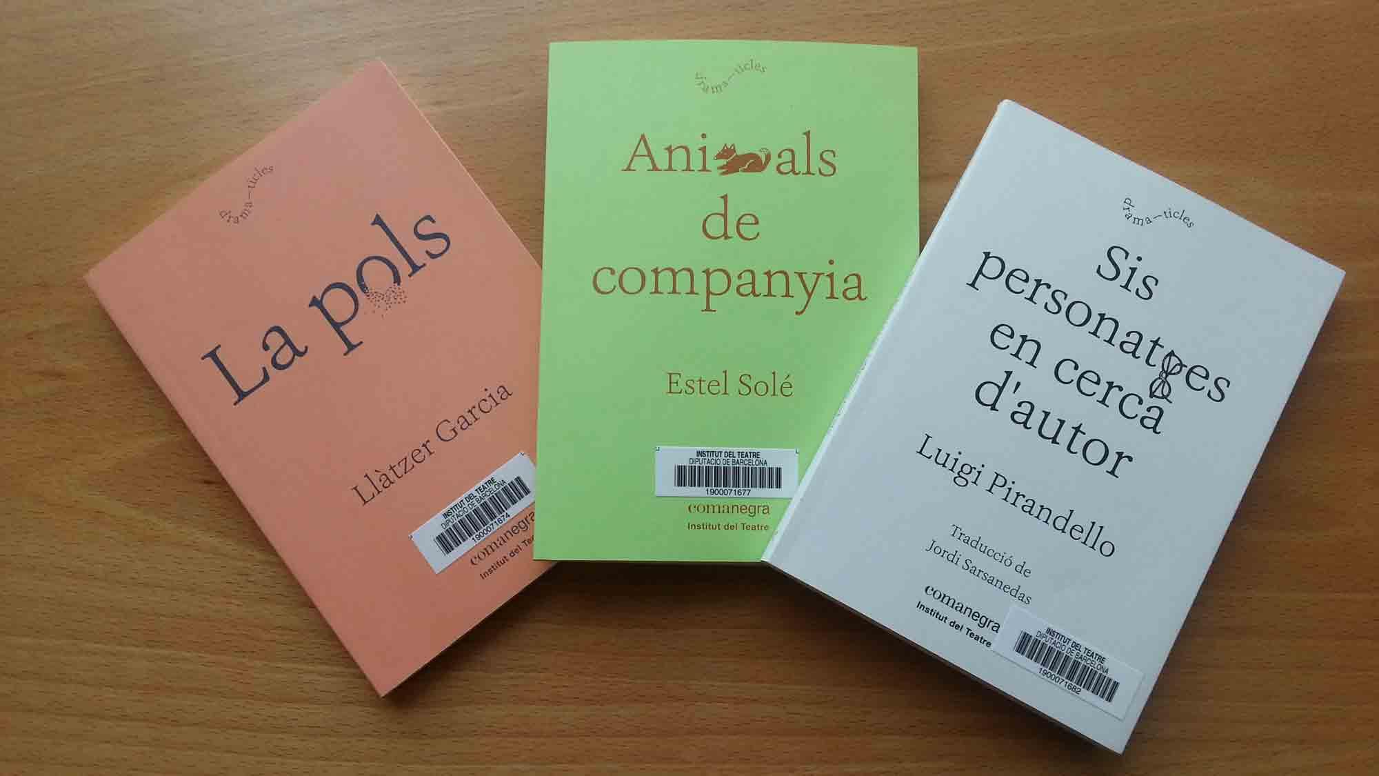Col·lecció de textos teatral Dramaticles, coeditada per l'Institut del Teatre i Comanegra