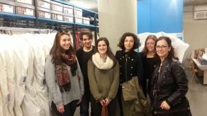 Grup d'alumnes de l'EFCA de Sabadell, que han visitat el MAE el 18 març 2016