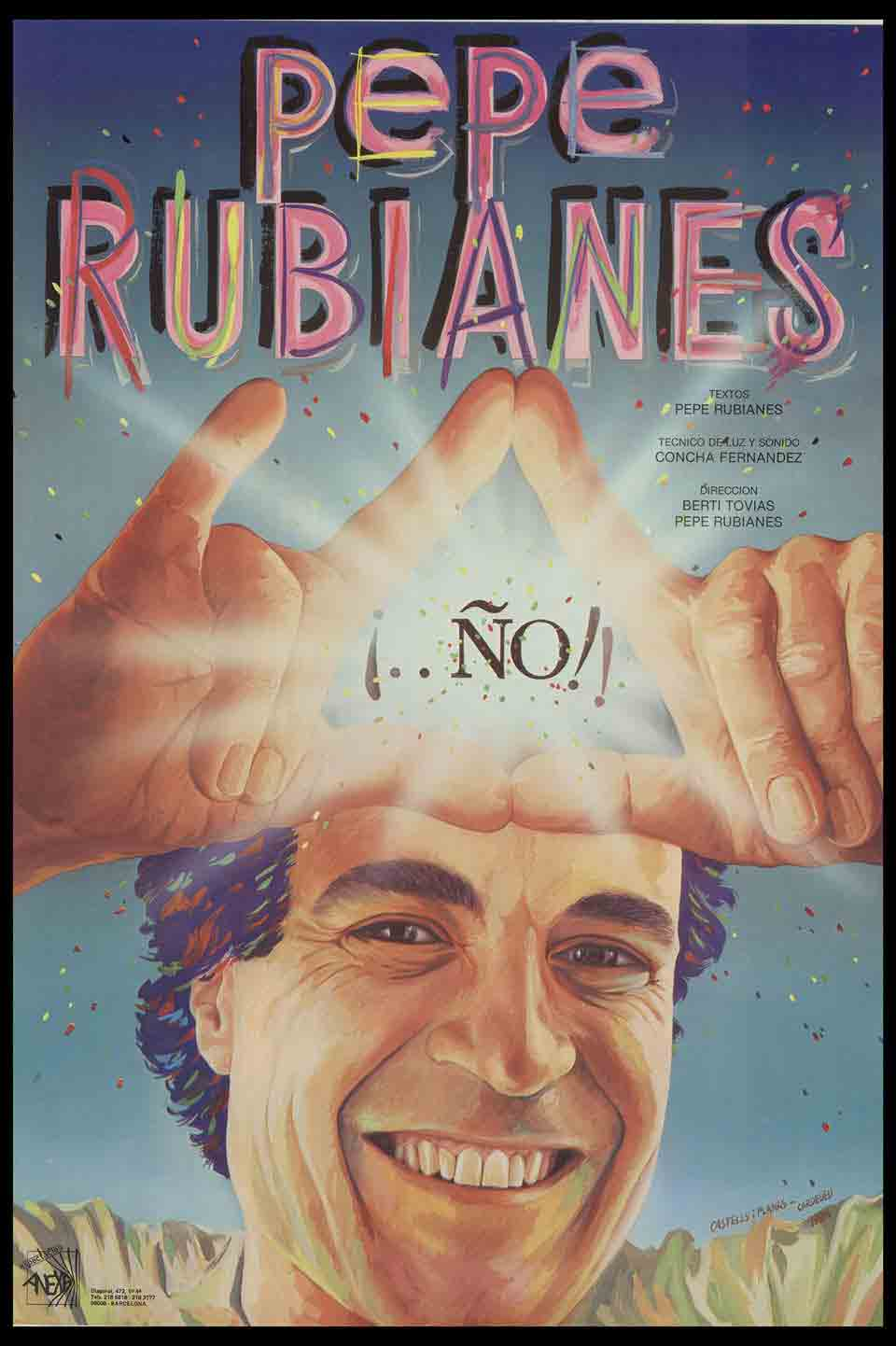 Cartell de ¡..No!!, de Pepe Rubianes, estrenat el 1984
