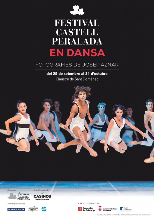 Cartell de l'exposició Festival Castell Perelada en dansa, de fotografies de Josep Aznar