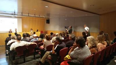 Presentació de Te'n recordes, 7 juliol 2016, amb Magda Puyo, Juanjo Puigcorbé i Anna Valls