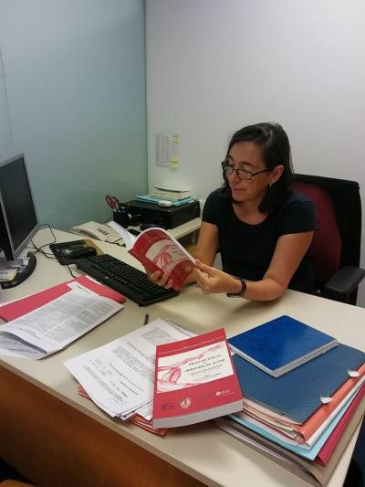 Cristina Soler al seu despatx del MAE