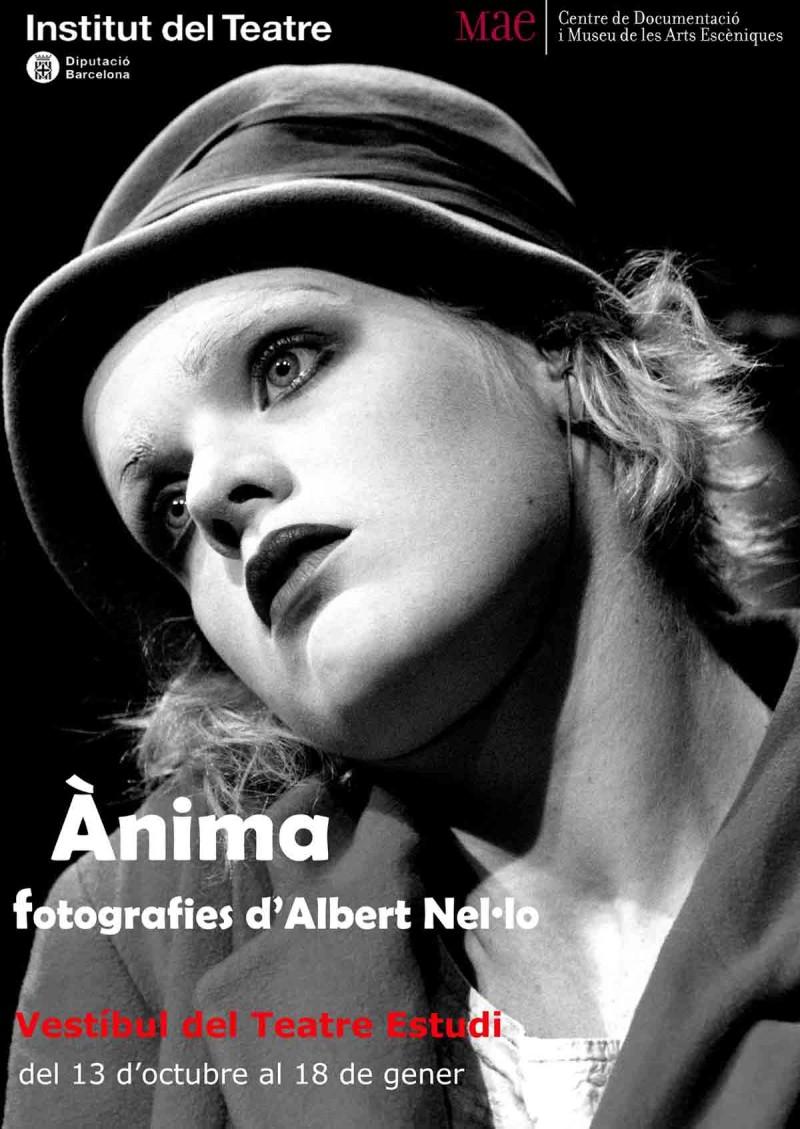Cartell exposició Ànima de fotografies d'Albert Nel·lo, del 17 d'octubre de 2016 al 18 de gener de 2017