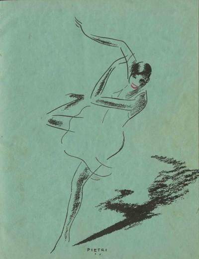Coberta amb dibuix de Josephine Baker de Pietri a la publicació Pepito Abatino présente Josephine Baker vue par la presse française, editat per Isis el 1931