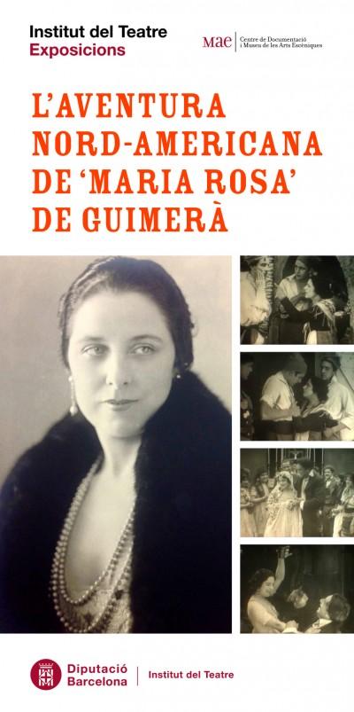 Cartell de l'exposició L'aventura nord-americana de Maria Rosa de Guimerà