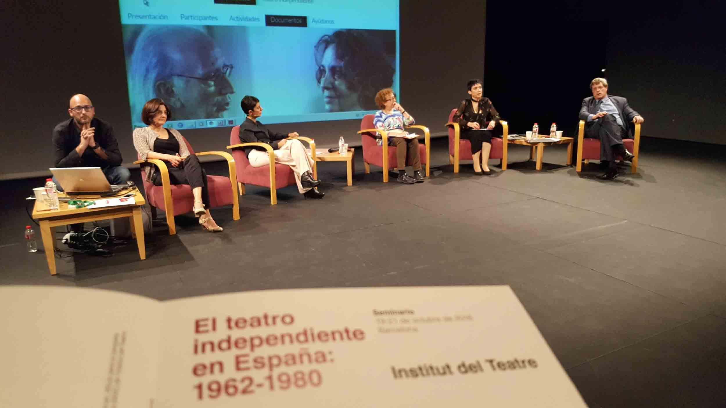 Taula rodona de centres de documentació del seminari El teatre independent a Espanya. Teatre Estudi de l'Institut del Teatre, 19 octubre 2016