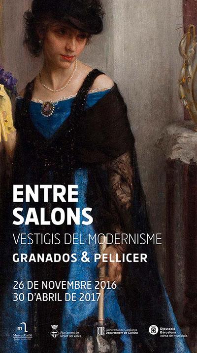 Cartell de l'exposició Vestigis del modernisme. Entre salons. Granados & Pellicer, Museu Abelló, del 26 novembre 2016 al 30 abril 2017