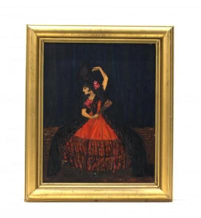 Pintura a l'oli de Tórtola Valencia en La Maja, pintada per la mateixa Tórtola. Llegat Tórtola Valencia del MAE