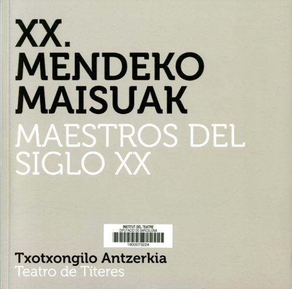 Coberta del catàleg de l'exposició Maestros del siglo XX : teatro de títeres, editat per UNIMA el 2016