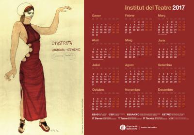 Calendari de l'any 2017 de l'Institut del Teatre