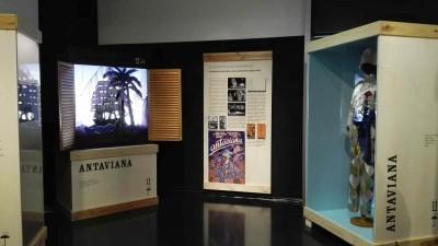 Espai dedicat a Antaviana, de Dagoll Dagom, dins l'exposició La memòria de les arts efímeres