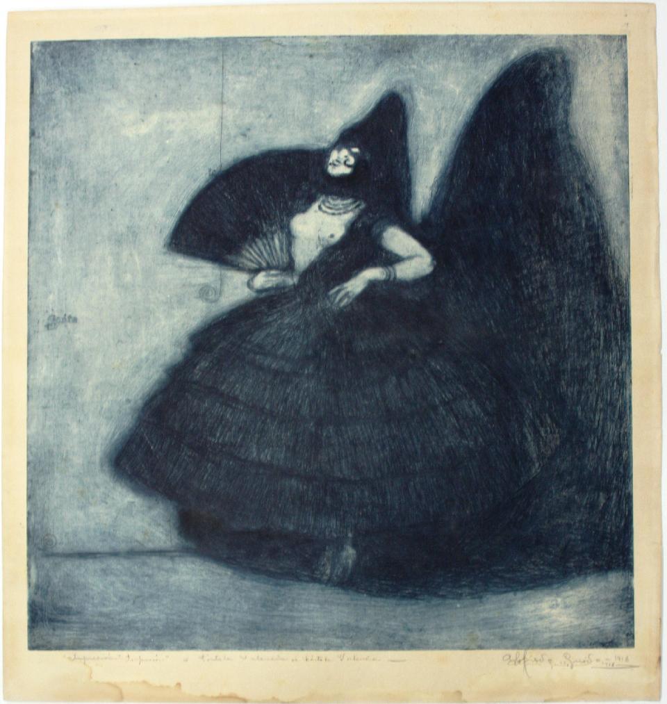 Gravat d'Alfredo Guidó de 1916 que representa a [...] </p srcset=