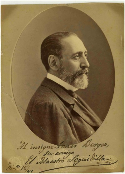 Retrat del compositor Francisco A. Barbieri, per Antonio García Peris el 1881, col·lecció de Documents d'Artur Sedó