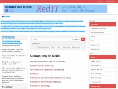 RedIT (Reservori Digital de l'Institut del Teatre)