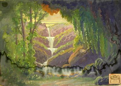 Esbós per a l'òpera La dona d'aigua, estrenada al Teatre ElDorado de Barcelona el 27 de juny de 1911