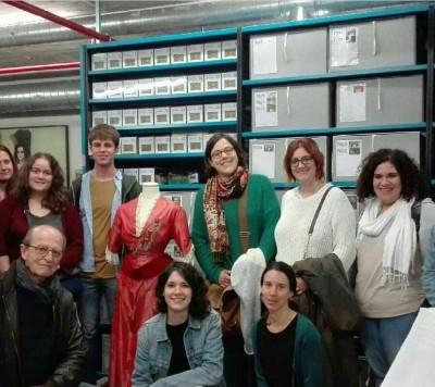 Visita d'alumnes de 3r de l'assignatura Museologia i Museografia del Màster de Gestió de Patrimoni Cultural i Museologia del Departament d'Història de l'art de la Universitat de Barcelona, 29 març 2017