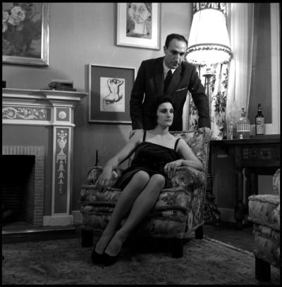 Fotografia d'escena de Cena de matrimonios, Teatre Alexis (Barcelona), 1960. Arxiu fotogràfic Manel Gausa del MAE