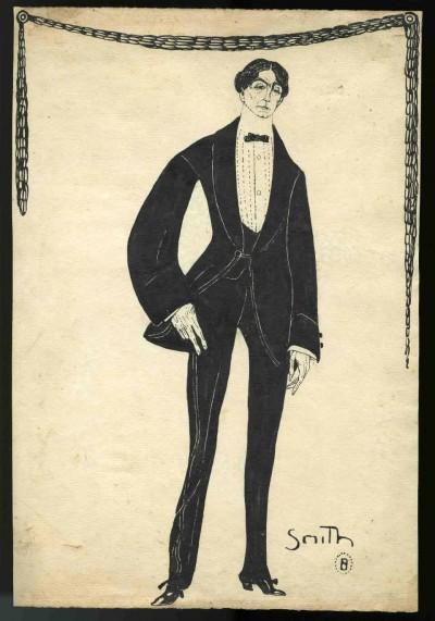 Caricatura de Ramon Tor, d'Ismael Smith, entre 1920 i 1930. Fons d'art del MAE
