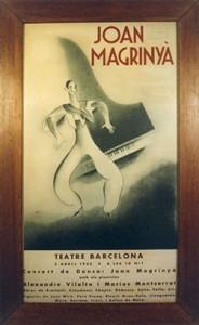 d'un espectacle de Joan Magriñà al Teatre Barcelona l'any 1935, realitzat per Evarist Mora