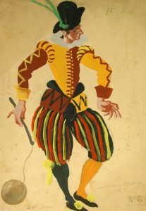 Figurí de Marià Andreu per Don Juan, ballet amb coreografia de Michel Fockine ballat pel Ballet de Monte-Carlo i estrenat a Londres l'any 1936