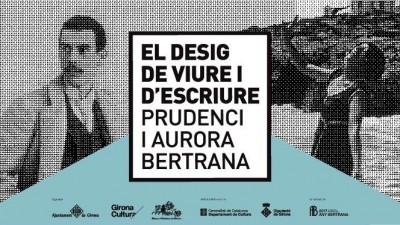 """Cartell exposició """"El desig de viure i d'escriure. Prudenci i Aurora Bertrana"""", del 28 d'octubre de 2017 a 22 d'abril de 2018"""