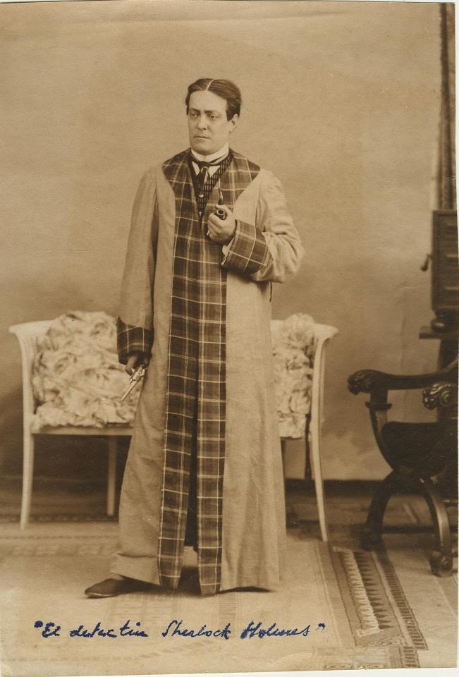 Retrat d'estudi d'Enric Giménez en El detective Sherlock Holmes, entre 1923 i 1930?