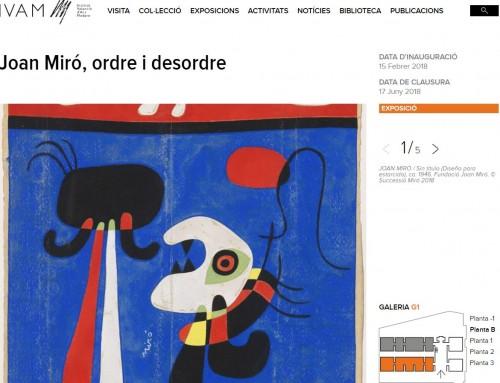 Exposició amb fons del MAE