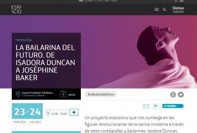 "Imatge web de l'exposició ""La bailarina del futuro"", Espacio Fundación Telefónica, del 23 de març al 14 de juny de 2018"