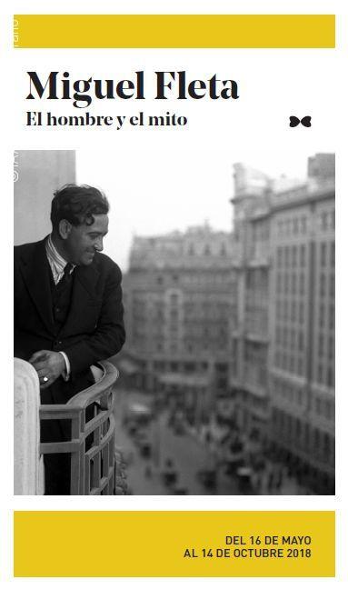 """Cartell de l'exposició """"Miguel Fleta. El hombre y el mito"""", IAACC, 16 maig a 14 octubre 2018"""