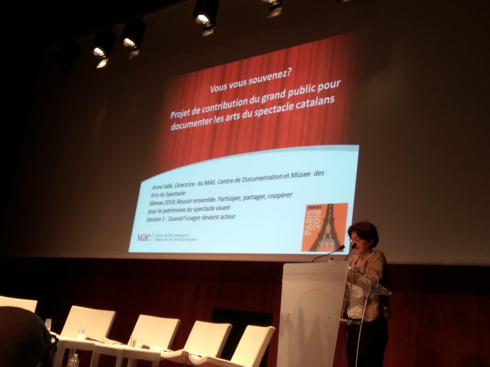 Anna Valls al Congrés SIBMAS 2018 de París (de 5 al 8 juny)
