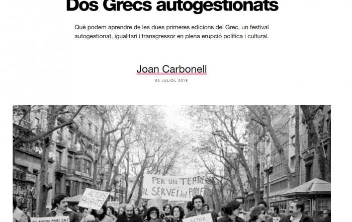 Dos Grecs autogestionats / Joan Carbonell. CCCBLAB, 3 juliol 2018