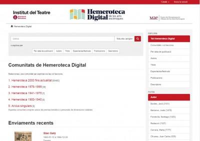 Nova versió de la base de dades de premsa del MAE Hemeroteca Digital, juliol 2018