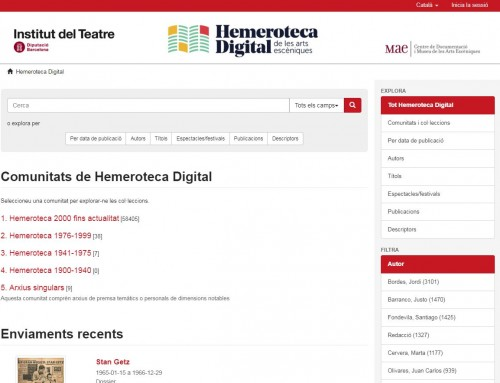 Nova interfície d'Hemeroteca Digital