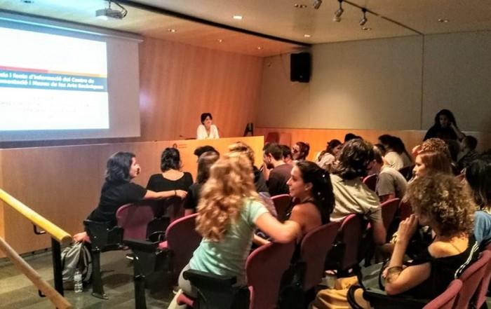 Sessió d'acollida i formació amb Anna Valls, directora del MAE, als alumnes de 1r de l'Institut del Teatre,, 19 setembre 2018