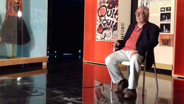 Joan Castells, a l'exposició La memòria de les arts efímeres del MAE, el 20 setembre 2018