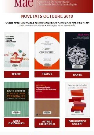 Butlletí de novetats de les biblioteques del MAE, octubre 2018