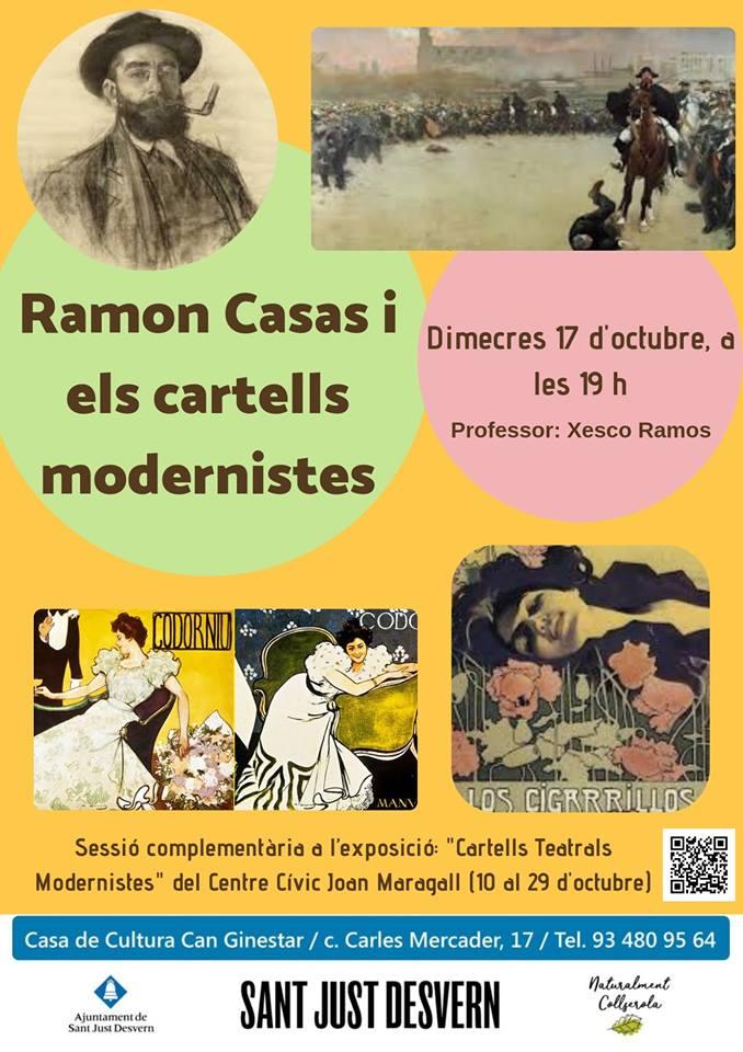 Exposició itinerant Mostra de cartells modernistes al Centre Cívic Joan Maragall de Sant Just Desvern, del 10 al 29 d'octubre 2018