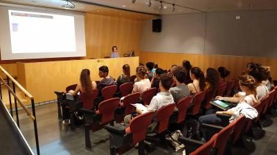 Sessió d'acollida i formació als alumnes de 1r del Conservatori Superior de Dansa (CSD), 5 d'octubre de 2018, amb Teresa González