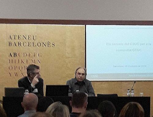 Jornada sobre projectes i  serveis bibliotecaris cooperatius, del CSUC, a l'Ateneu Barcelonès