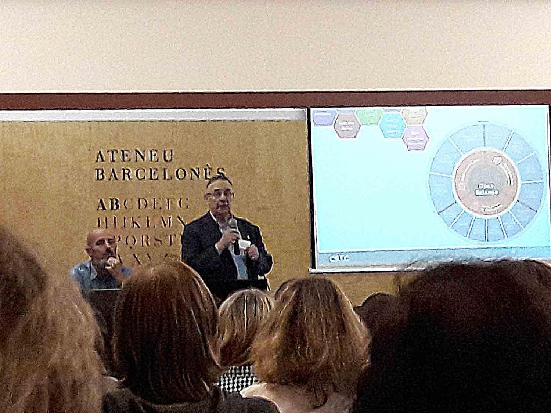 Lluís Anglada, director de Ciència Oberta del CSUC, a la Jornada del CSUC, Ateneu Barcelonès, 19 octubre 2018